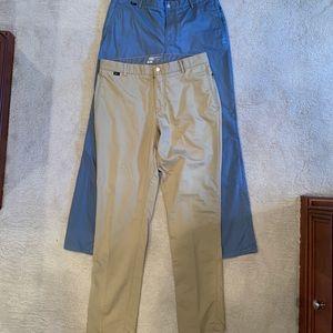 Nike Golf  Dri-Fit pants (2 pairs & golf shirt!)